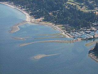 Comox house photo - Aerial View of Saratoga Beach and Marina