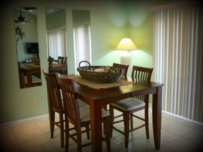 The spacious Dining Room accommodates 6 people.