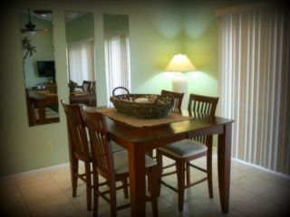 Indian Shores condo photo - The spacious Dining Room accommodates 6 people.