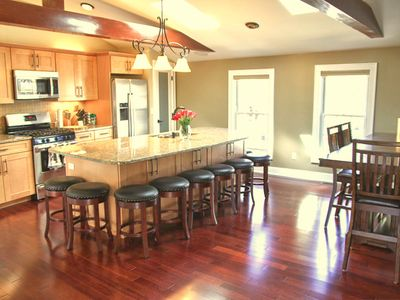 Kitchen-dining area has a 55' Samsung SMART TV...watch or listen to your favs!