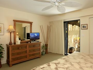 FLAT SCREEN TV AND DVD PLAYER IN MASTER BEDROOM