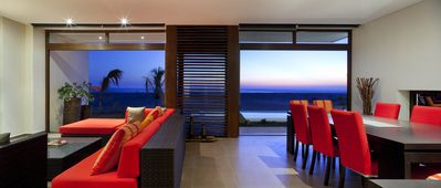 Inside dining and living space with Ocean view
