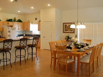 Gourmet kitchen and impressive dining facilities
