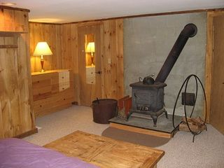 Ludlow house photo - Another wood burning stove in the master bedroom