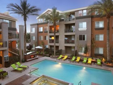Old Town Scottsdale apartment rental - Breath-taking 24hr pool/jacuzzi. View from apartment front door.