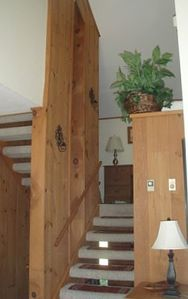 STAIRS TO LOFT AND MASTER BEDROOM