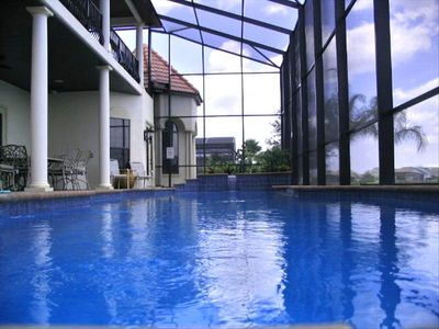 Amazing Azure Blue 55ft Pool - Vanishing Edge and Roman Steps