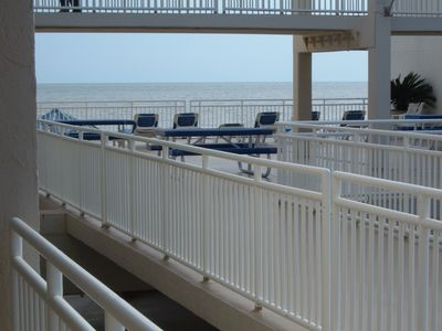 Orange Beach condo rental - VIEW OF GULF FACEING COMMUNITY BALCONY, FROM OUR UNITS BALCONY