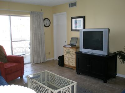 Okaloosa Island condo rental - Living area TV