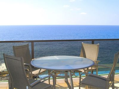The fabulous view from your ocean front lanai!