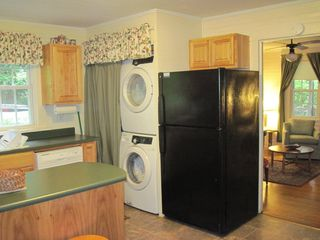 Black Mountain cabin photo - Washer and Dryer; Refrigerator with Ice Maker