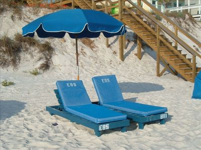Beach chairs included Mar 1- Oct 15 with your stay