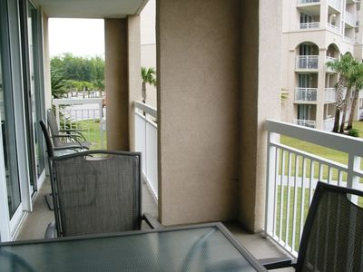 Large Balcony with intra coastal water way view, great view of pool