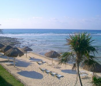 Akumal condo rental - View of beach, Halfmoon Bay