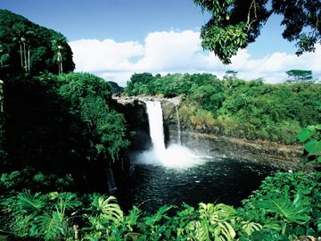 Beautiful waterfalls in Hawaii (Courtesy of Hawaii Visitors & Convention Bureau)