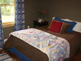 Asheville house photo - Sink into our luxury linens and beds! (Downstairs Bedroom)