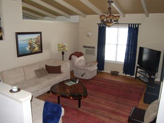 Rockport house photo - Living room screams comfort while watching Satellite TV on a 40