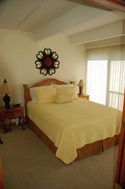 Lakeview Bedroom with gorgeous views of Lake Dillon and Keystone Mountain.