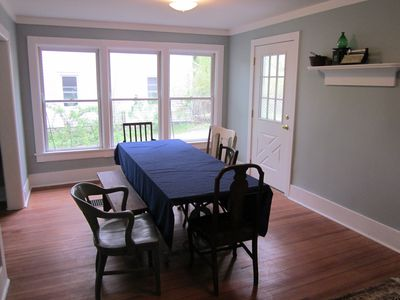 Arkville house rental - Dining/conference room.