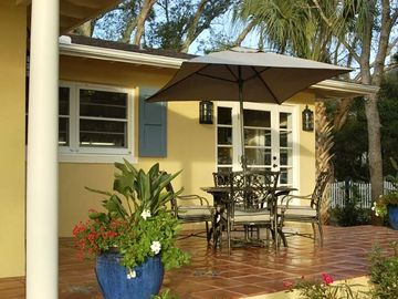 St. Augustine house rental - beautiful tile terrace that overlooks the ocean