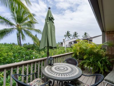 Great golf course location, one bedroom one bath condo with ocean view, Keauhou Resort #114, In Keauhou.
