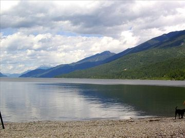 Kootenay Lake from Riondel Campground Beach.