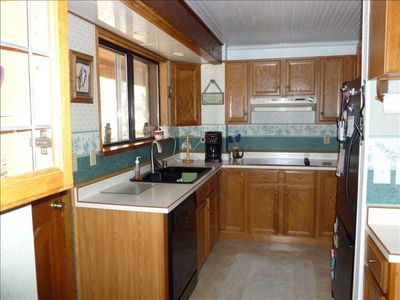 View of the Small but Efficient Kitchen