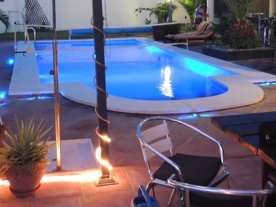 Spectacular Colour Changing LED Pool Lighting, Stunning for Evening Swimming