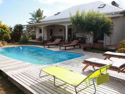 Large renovated villa on wooded garden veranda and pool HEATED