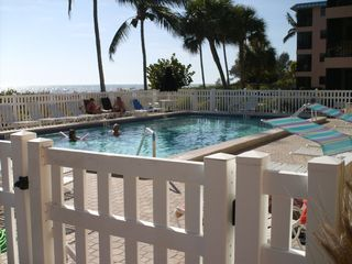 Sanibel Island condo photo - The pool is on the beach side. Golf is nearby.