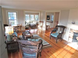 Harwich - Harwichport house photo - The living area has new cozy wicker furniture