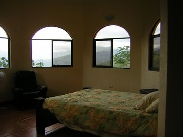 Open airy bedrooms with great views