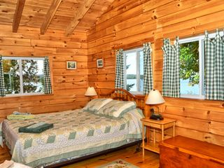 Rangeley Lake cabin photo - Bedroom with lake view