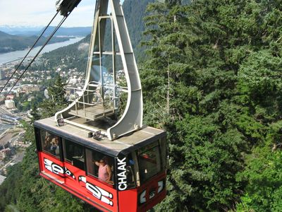 Mount Roberts Tram above downtown Juneau