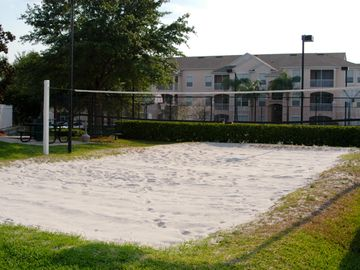 sand volleyball court.