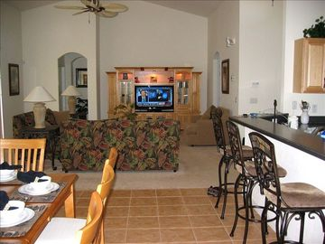 Large living room with dining room - space for all the family & more