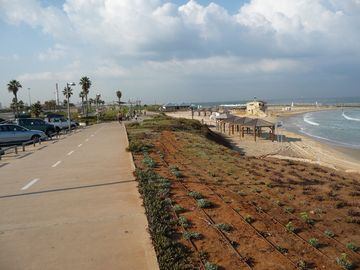 The promenade along Tel Baruch beach