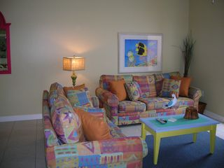 Splash Resort condo photo - Living area with queen size sleeper