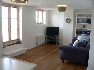 Margate apartment rental - Living Room with seating for five on 2 sofas. Freeview, DVD, Wii plus games