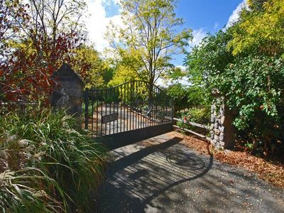 Private entry gate to property.