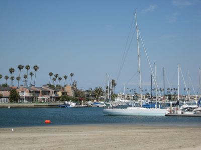Alamitos Bay Beach is just a 10-minute walk from the studio