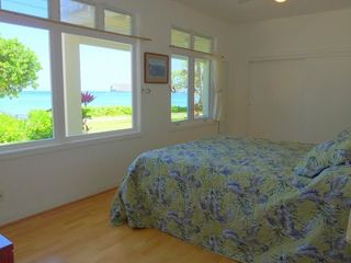 Waimanalo house photo - Downstairs Master Bedroom with an Ocean View
