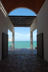 The Breezeway opens to spectacular views of the Sea of Cortez.