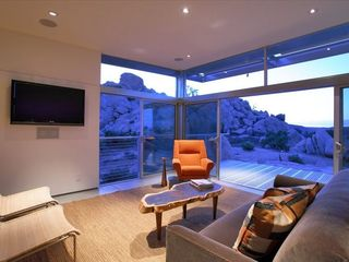 Yucca Valley house photo - The living room offers a front-row seat for the wild desertscape.