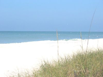 The beach is only 2 blocks away from 121 Poco Place, Nokomis Fl