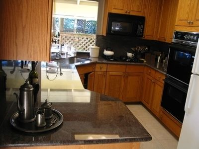 Sonoma house rental - Kitchen (with slight glare of granite countertop)