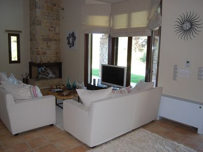 Kyparissia villa rental - Part of the living area