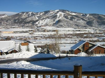 Mt. Werner views...... TREE HAUS is One Mile from Steamboat Ski Resort