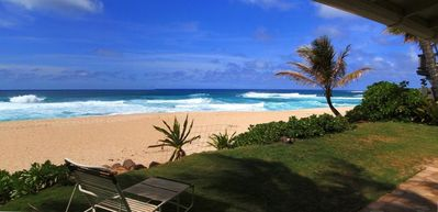 Sunset Beach house rental - Relax in the yard and catch some rays...