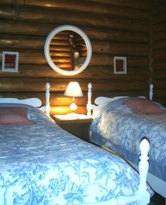 Harbor Springs cabin rental - Charming bedrooms with cozy linens when you want to rest. . . .